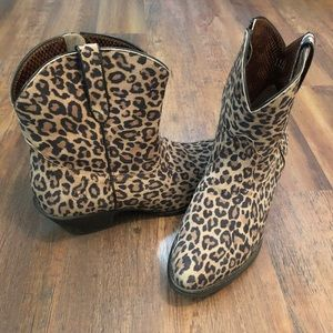 Ariat Leopard Darlin Western Booties